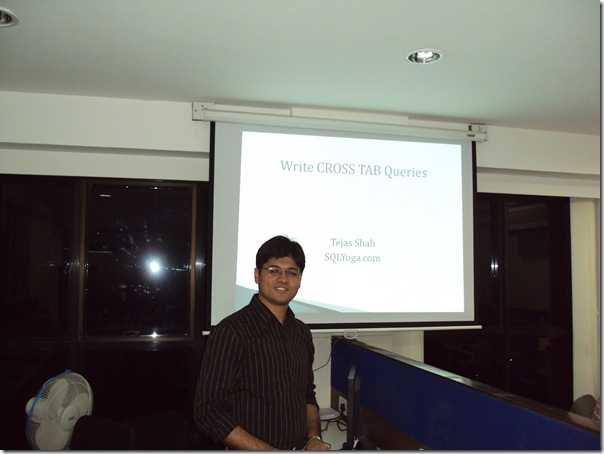 SQL SERVER: Presentation at Ahmedabad User Group Meeting