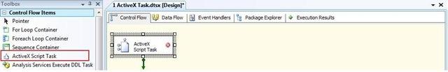 SQL SERVER: SSIS - ActiveX Task