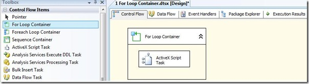 SQL SERVER SSIS - For Loop Container