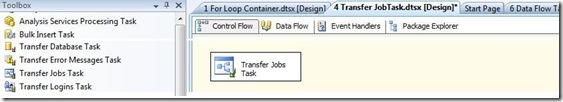 SQL SERVER: SSIS - Transfer Jobs Task