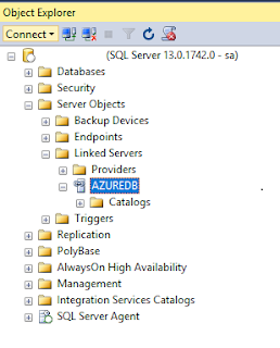 SQL Server, T-SQL create Linked Server with Azure SQL Database