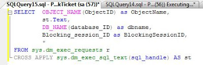 SQL SERVER: Find executing queries